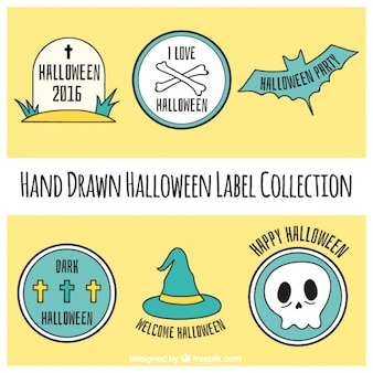 Pack of stickers for halloween
