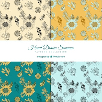 Pack of sunflower sketching patterns