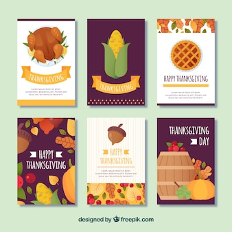 Pack of thanksgiving cards