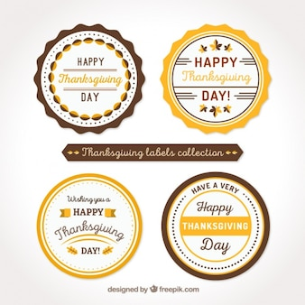 Pack of thanksgiving vintage stickers