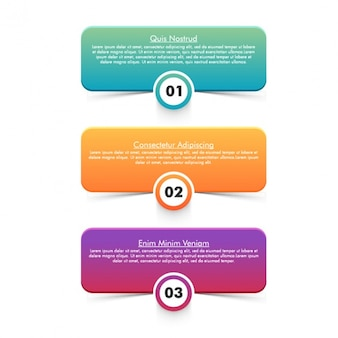 Pack of three geometric infographic banners