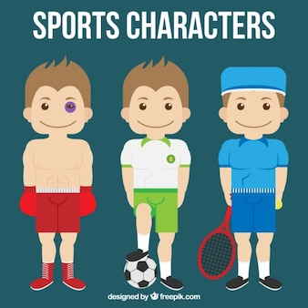 Pack of three sport characters