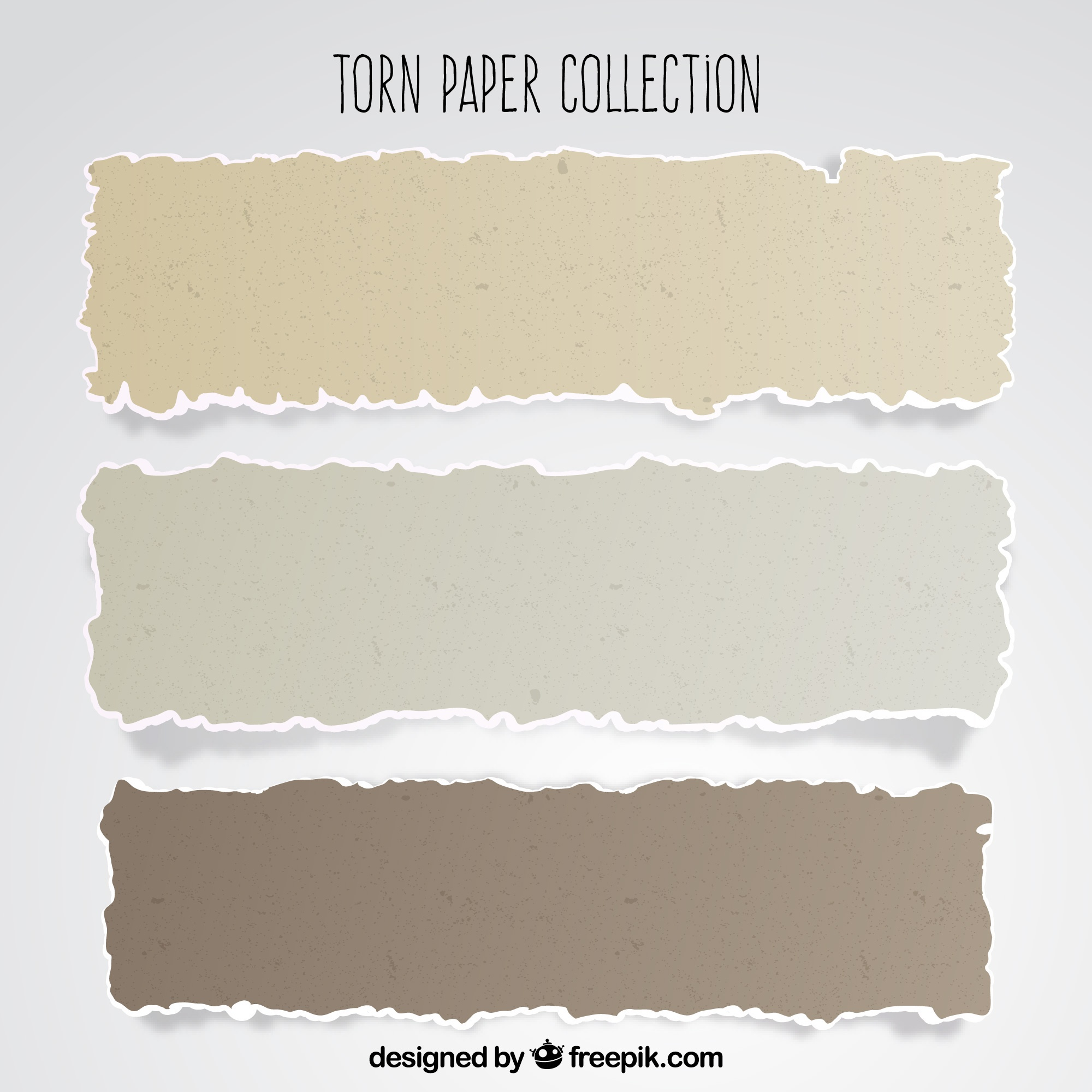 Pack of torn papers