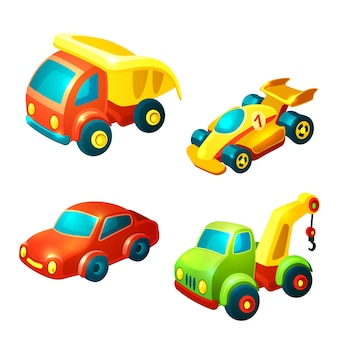 Pack of toy vehicles