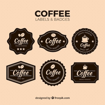 Pack of vintage coffee stickers