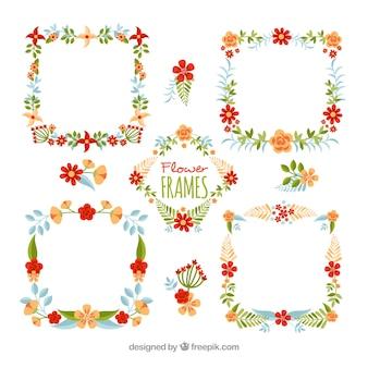 ビンテージ花のフレームのパック