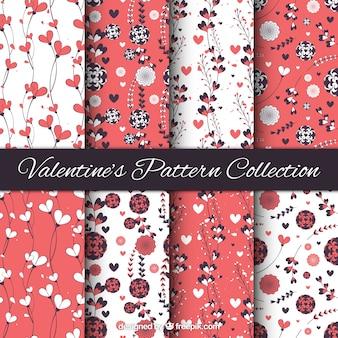 Pack of vintage floral valentine patterns