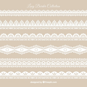 Pack of vintage lace ornaments