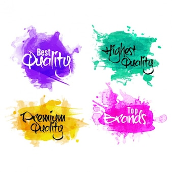 Pack of watercolor labels
