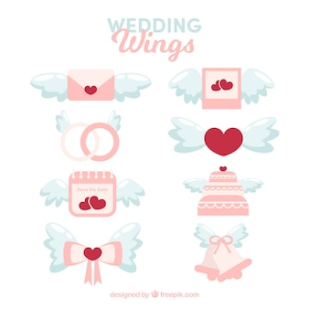 Pack wedding elements with wings