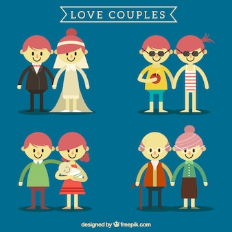 Pack with couples of different ages