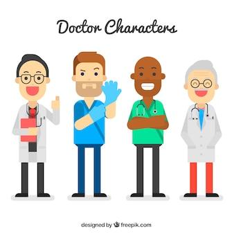 異なる種類の医者とパック