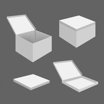 Packaging box template
