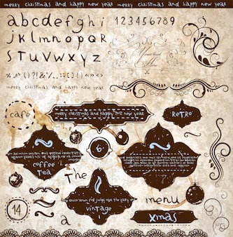 Page calligraphy border ornamental classic