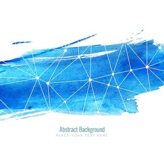 青い水彩のデザインで現代の技術の背景