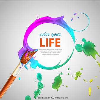 Paint brush vector background