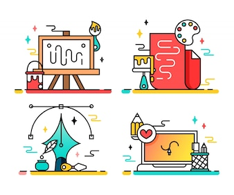 Paint icon collection