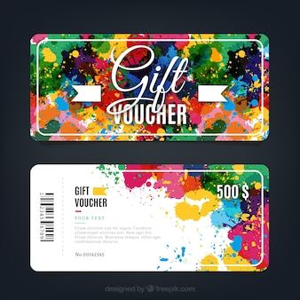 Paint Splashes Gift Voucher