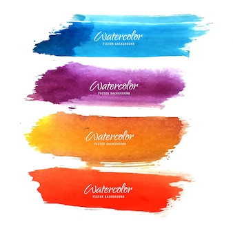 Paint strokes in different colors