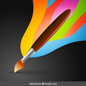 Paintbrush with artistic background