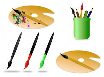 painting brushes and acessories.