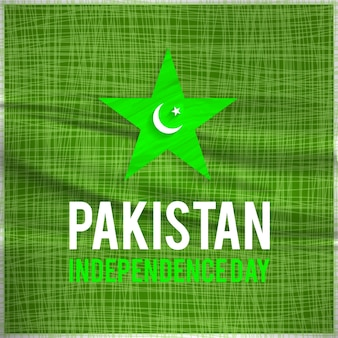 Pakistan independence day design with lines and star