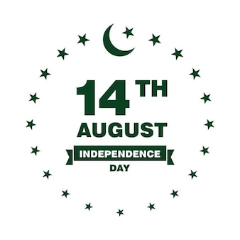 Pakistan independence day label