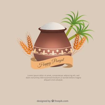 Palm trees, wheat and plot with rice background