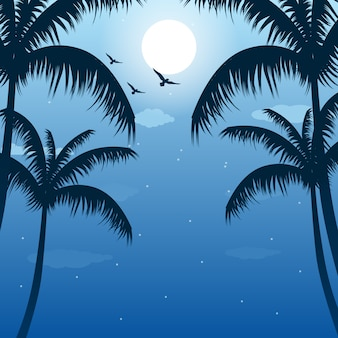 Palm trees background design