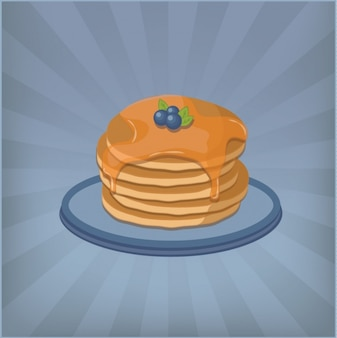 Pancakes background design