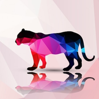 Panter made of polygons background