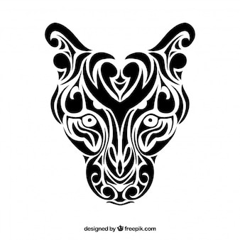Panthera Tribal Vector