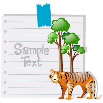Paper note background design