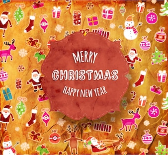 Paper sticker star christmas sale happy