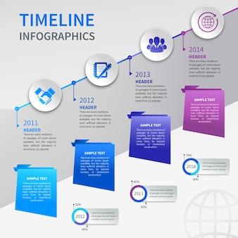 Paper timeline infographics