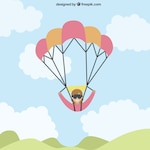 Paragliding in flat design