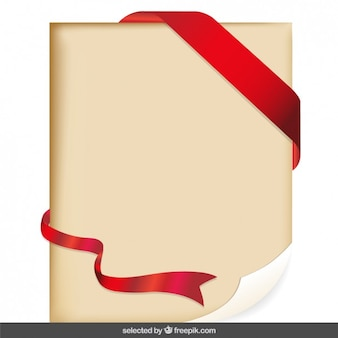 Parchment with red ribbon
