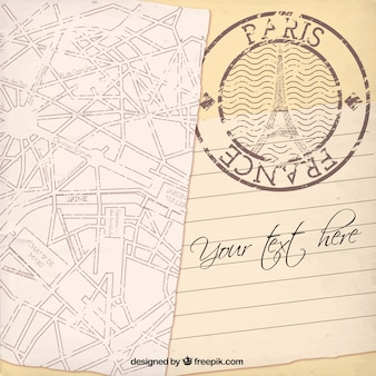 Paris card template