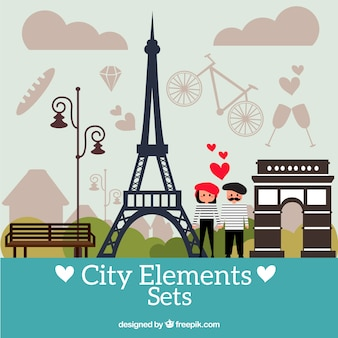 Paris city elements