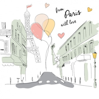 Paris romantic background