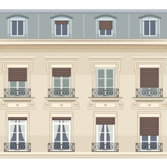 Parisian Building Illustration