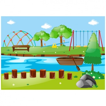 Park background design