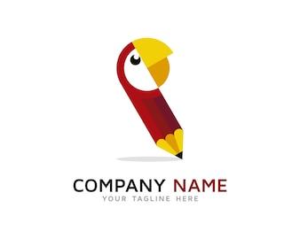 Parrot pen logo