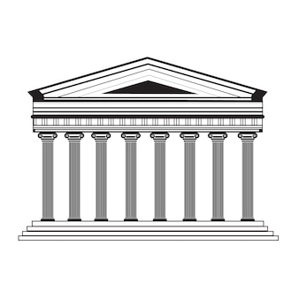 Parthenon facade design