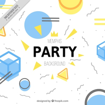 Party background with abstract shapes