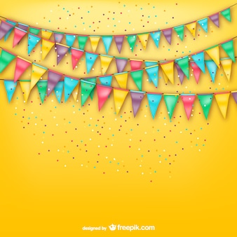 Party background with bunting