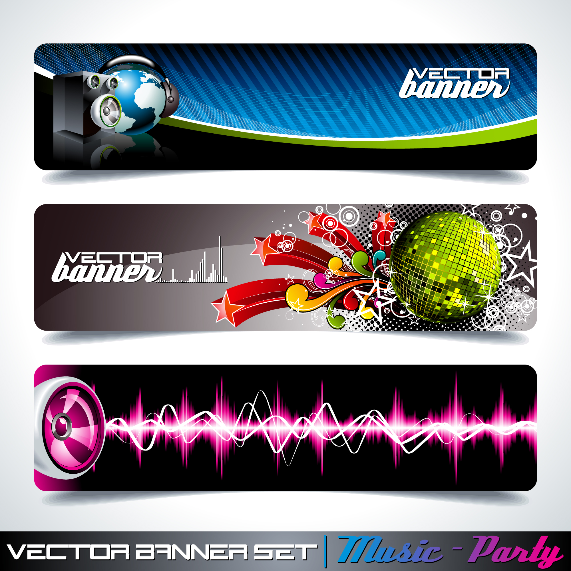 Party banners collection