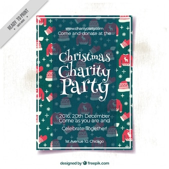 Party christmas charity brochure