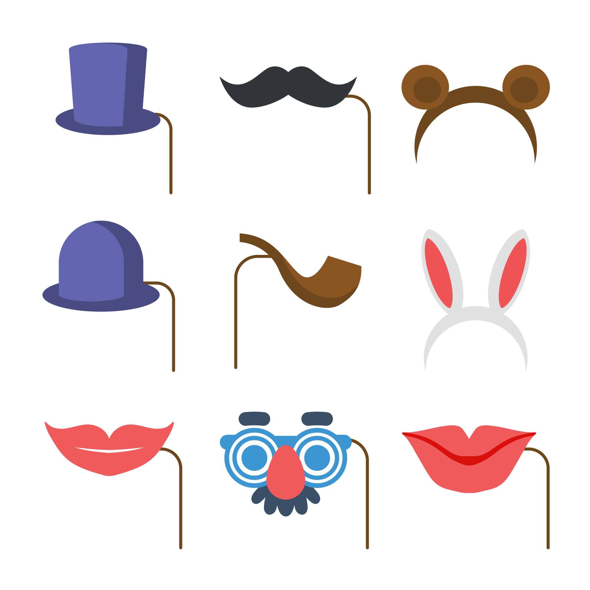 Party element icons collection