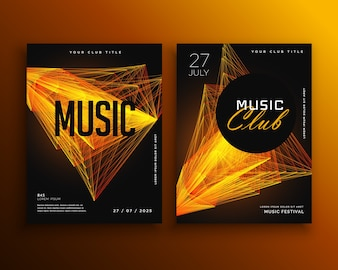 Party flyer template for music club